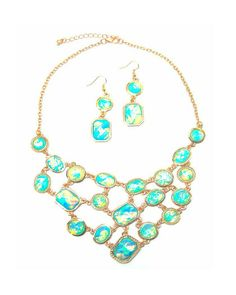 The Turquoise Essence Necklace by JewelMint.com, $36.00