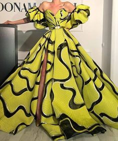 African Clothing Design For Beautiful Ladies To Try Out - African fashion African Prom Dresses, Latest African Fashion Dresses, African Print Fashion, African Dress, Ankara Dress Styles, African Fashion Designers, African Style, Elegant Dresses, Pretty Dresses