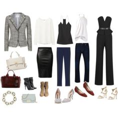 love one jacket, many shoes, bags and many looks