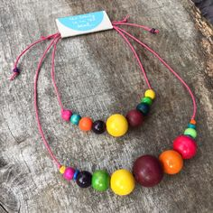 Helen & Cara Mummy & Daughter necklace set by The Beauty is in the Detail. #beads #chunky #colourful #jewellery #unique #oneoff