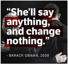 """The truth hurts...  Trump Releases Brutal Photo Of Obama & Hillary… Goes Viral For PERFECT Reason   6.10.16  """"Obama is right: She'll say anything and change nothing. Now, though, Obama has """"fundamentally transformed"""" America to fit his mold. That's why he's willing to endorse Hillary now — he knows she's corrupt enough that he can count on four more years of his America-destroying agenda."""""""