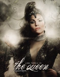"#OUAT Season 5 Movie poster style. I love how they dropped the ""e"" word and now she's just the Queen."