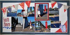 "Random Memories: Summer vacation layout ""South Haven"""