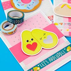 Make this cute, funny DIY Avocuddle Valentine's Day  Card for someone special.