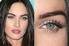 Megan Fox - her eyebrows are always perfection. I love how they're so clean at the tops. Her makeup artist must use stencils?