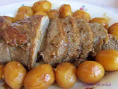Great Recipes, Favorite Recipes, Baked Potato, Delish, Sausage, Pork, Cooking, Ethnic Recipes, Braised Veal Recipes
