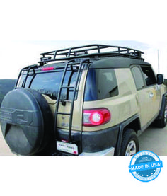 TOYOTA FJ CRUISER LADDER· WITH/WITHOUT SPARE TIRE· PASSENGER SIDE | Gobi Racks