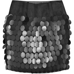Paillette silk-organza skirt ($285) ❤ liked on Polyvore featuring skirts, mini skirts, saias, bottoms, faldas, sheer skirt, embellished skirt, black skirt, stella mccartney skirt and sheer mini skirt