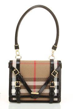 Burberry -capsule christine handbag in black and beige