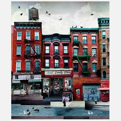 NYC Street Triptych 2/3 20x24, 49,30€, now featured on Fab.