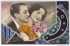 """Carte Postale Ancienne """"À DEUX"""" France 1930."""