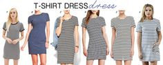 Striped T-Shirt Dresses - Chic in Columbus www.chicincolumbus.wordpress.com