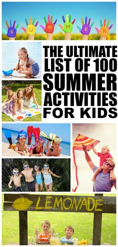 Whether you live in a house or an apartment, like the outdoors or prefer to stay inside, have heaps of cash in your bank account or live on a strict budget, this list of 100 summer activities for kids has something for everyone!