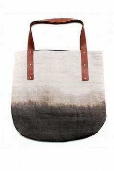 Nimol Everyday Bag: Cream + Grey Ombre by Raven + Lily
