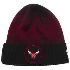 a6cda9f4c21 Chicago Bulls Black and Red Cuff Knit Cap