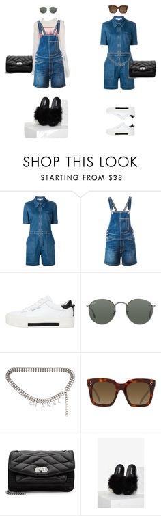 """""""summer denim"""" by anna-hauge ❤ liked on Polyvore featuring STELLA McCARTNEY, Dondup, Kendall + Kylie, Ray-Ban, Chanel, CÉLINE and Zadig & Voltaire"""