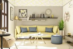 Pillows on sofa – Furniture – Commercial Office Furniture Inspiration Plus Large Furniture, Sofa Furniture, Diy Cupboards, Multifunctional Furniture, Home Remodeling, Floating Shelves, Living Spaces, Living Room Plan, Living Rooms