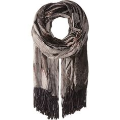 Steve Madden Graphic Tribal Day Wrap with Faux Suede (Neutral) Scarves (1.530 RUB) ❤ liked on Polyvore featuring accessories, scarves, neutral, steve madden, steve madden scarves, patterned scarves, fringe scarves and wrap shawl