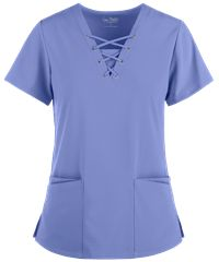 If you're looking for fashion and flair, try the Easy Stretch by Butter-Soft™ Gisele Lace Up V-Neck Scrub Top. Be on trend with scrubs at Uniform Advantage! Cute Scrubs Uniform, Scrubs Outfit, Yoga Scrub Pants, Stylish Scrubs, Uniform Advantage, Easy Stretches, Scrub Jackets, Joggers Womens, Lauren White