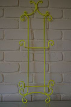 Fluro Yellow Powdercoated Plate Rack