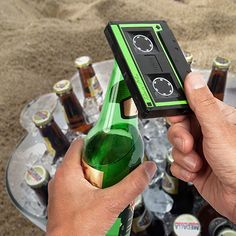 Open your beer the old fashioned way. With a retro Cassette Bottle Opener.