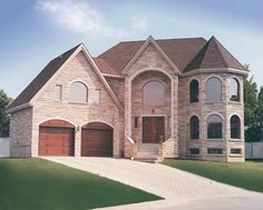 Chateau House Plan with 3078 Square Feet and 4 Bedrooms from Dream Home Source | House Plan Code DHSW15605