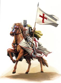 The Knights Templar started off as a military force protecting pilgrims going to the holy land, though they became an elite combat force in the crusades who also had huge financial influence in Europe.