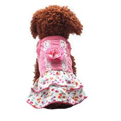 Vividda Cute Pet Puppy Dog Apparel Clothes Short Skirt Floral Princess Dress Bowknot Summer Clothes ** More info could be found at the image url. (This is an affiliate link and I receive a commission for the sales)