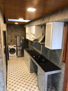 Home Bar Diy Small Laundry Rooms 40 Super Ideas Dirty Kitchen Design, Outdoor Kitchen Design, Modern Kitchen Design, Dirty Kitchen Ideas, Modern Design, Loft Kitchen, Home Decor Kitchen, Kitchen Furniture, Kitchen Interior