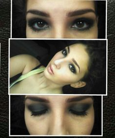 Dark look with a blue tinge great for light brown eyes Used: naked pallet colors creep and gunmetal