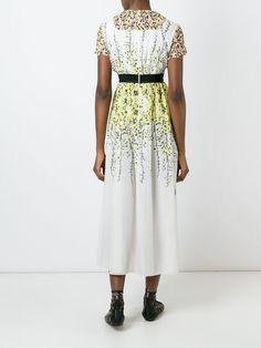 Джамбаттиста Валли вышитые рукава цветочные миди платье