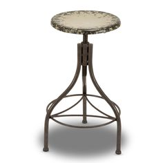 28 in. Metal Bar Stool - Antique Cream - $91.00 As a table for the front porch near the swing?