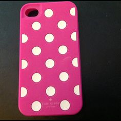 """Kate Spade IPhone Skin Soft skin, 4 1/2"""" x 2 1/2"""" Kate Spade white pokadots against a pink background. kate spade Other"""