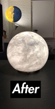 Moon lamp DIY.