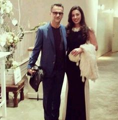Dave Gahan with a lucky guest to his son's wedding.