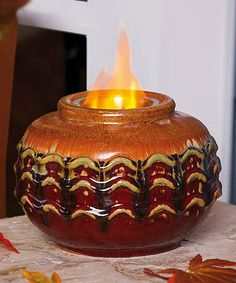Take a look at this Sunset Hues Fireside Firepot by Evergreen on #zulily today! $25 !!
