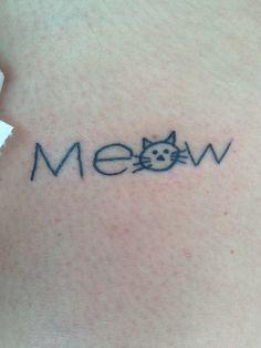 Meow Cat tattoo.