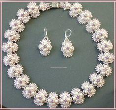 Perlenschmuck  etwas-besonderes - Perlenschmuck Basteln 3D Perlensterne Perlen ...