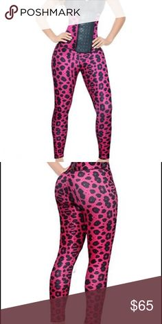 2X Ann Michel Leopard Print Legging w/Butt Lifter Cute stylish workout gear for the gym with added benefit of Butt Lifter being built in. •Authentic Colombian design •Built in Powernet butt lifter • High compression supplex material • Shapes your figure Ann Michell Pants Leggings