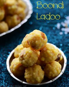 Boondi ladoo recipe with Step by Step pictures VIDEO to show how to shape the ladoos! Diwali sweet recipes!