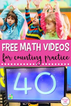 Your kindergarten and 1st grade students will love these fun and engaging videos, which can be used for teaching and practicing counting! I love having opportunities throughout the day where my students can get up and moving, and these videos do just that while also targeting important math skills. There are FREE videos for counting by 1's, 5's, 10's, and more! Read my post to learn more about the different math resources and activities. Number Sense Activities, Kindergarten Math Activities, Teaching Math, Math Workshop, Workshop Ideas, Math Skills, Math Lessons, Easy Math, Free Teaching Resources