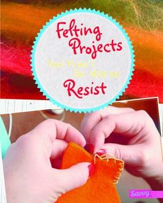 Cover image for Felting projects you won't be able to resist Pennant Flags, Flag Banners, Book Crafts, Fun Crafts, Shadow Box Art, Owl Pillow, Crafty Kids, Wet And Dry, Project Yourself