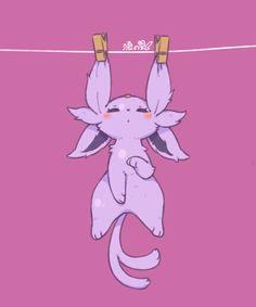 Espeon or Mentali Pokemon Go, Pokemon Life, Pokemon Fan Art, Evoluções Eevee, Pokemon Especial, Pokemon Mignon, Chibi, Cute Pokemon Pictures, Catch Em All