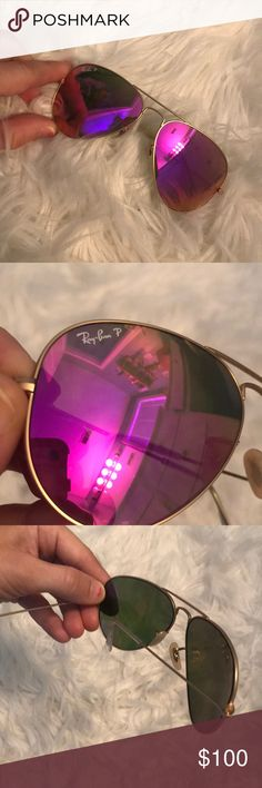 Authentic ray ban sunglasses Pink ray ban sunglasses, year old. Very good condition. Ray-Ban Accessories Sunglasses