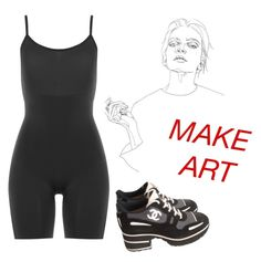 """""""art"""" by carolinehorann ❤ liked on Polyvore featuring SPANX, Chanel and Prada"""