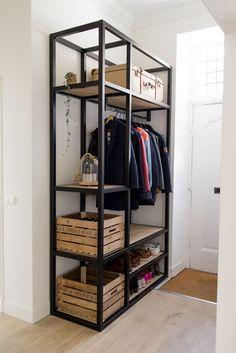 Bedroom Closet Design, Home Room Design, Closet Designs, Home Decor Bedroom, Welded Furniture, Home Furniture, Furniture Design, Bed Frame Design, Wooden Wardrobe