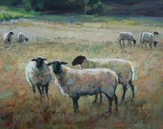 Astoria Fine Art Gallery located in Jackson Hole, Wyoming. Featuring national and international award-winning artists. Sheep Paintings, Paintings I Love, Animal Paintings, Watercolor Animals, Watercolor Paintings, Sheep Illustration, Sheep Art, Farm Art, Alpacas