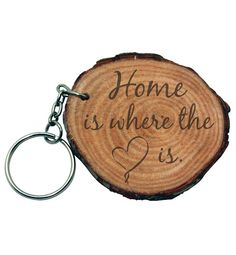 Personalized Natural Wood Key Chain Engraved Raw by LaserArtists