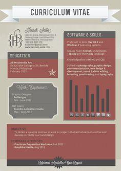 Creative resume #graphic #design #layout #job