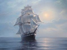 Sailboat Art, Ship Paintings, Sail Away, Tall Ships, Sailing Ships, Art Photography, Ocean, Fine Art, Drawings
